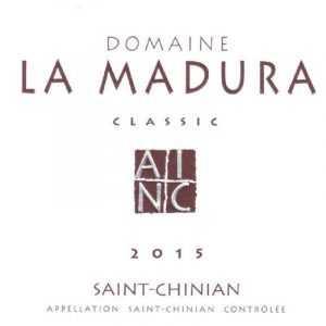 La Madura CLASSIC Saint-Chinian AOP Rouge 2015