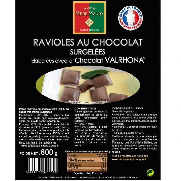 Ravioles surgelées au Chocolat VALRHONA 600g