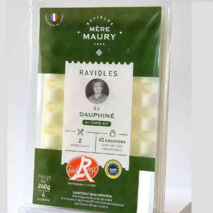 Barquettes de 4 plaques Ravioles du Dauphiné Label Rouge Mère Maury