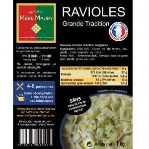 Ravioles Mère Maury surgelées Grande Tradition - 1kg