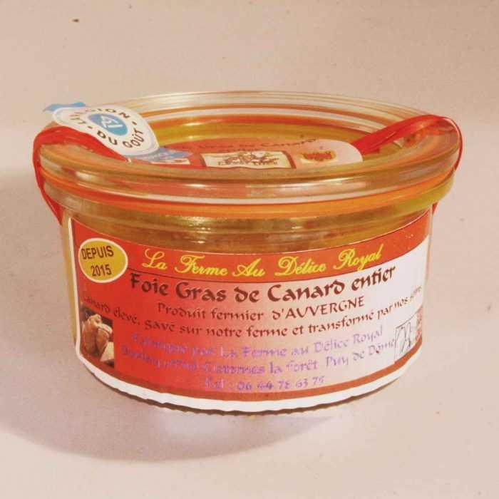 Foie gras de canard entier de la Ferme au Délice Royal