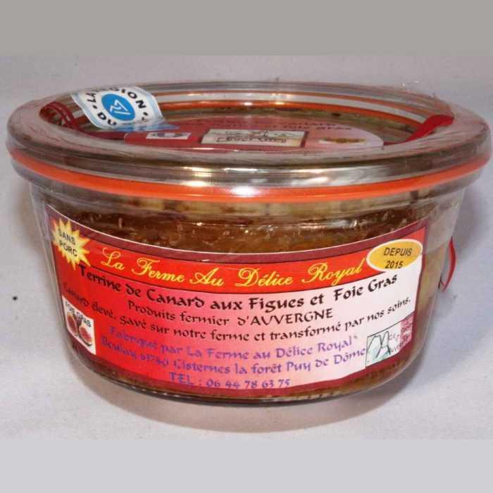 Terrine de Canard, aux figues et foie gras de la Ferme au Délice Royal