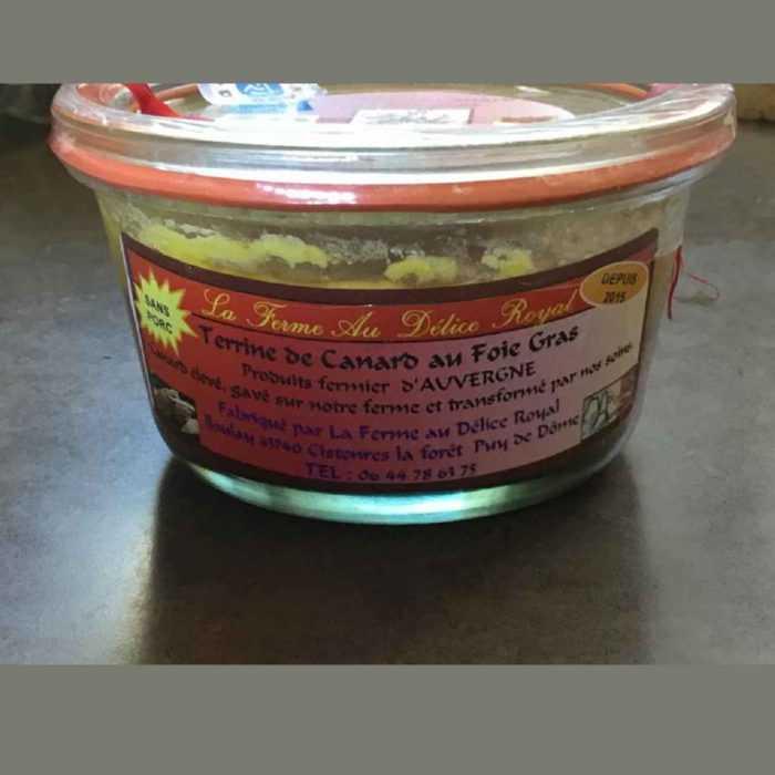 Terrine de Canard au foie gras de la Ferme au Délice Royal