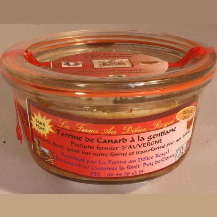 Terrine de Canard à l gentiane de la Ferme au Délice Royal