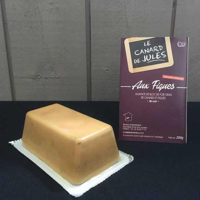 Bloc de Foie gras mi-cuit - figues,, Le foie gras de Jules