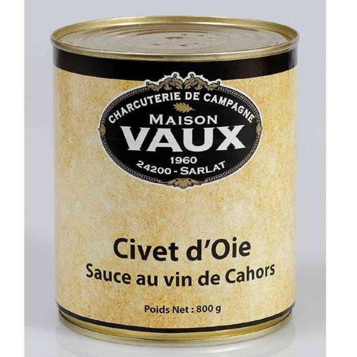 Civet d'oie, sauce au vin de Cahors de Maison Vaux