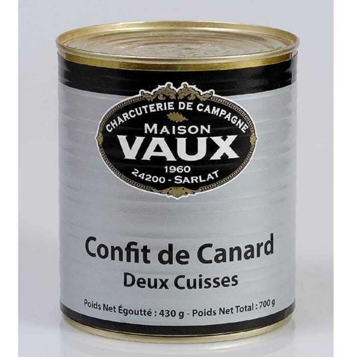 Confit canard (2 cuisses) de Maison Vaux