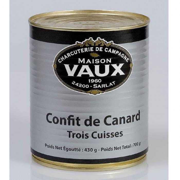 Confit canard (3 cuisses) de Maison Vaux