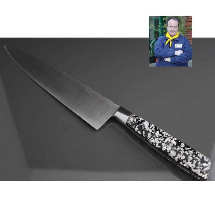 Couteau de Chef 20cm manche résine Pailles argent de Fernando Ramos
