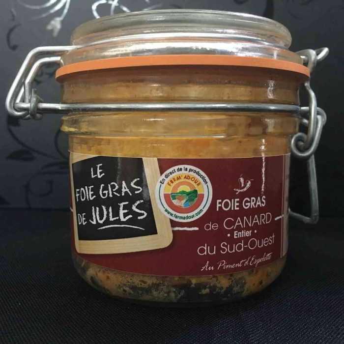 Foie gras de canard entier au piment d'Espelette - Aquitania