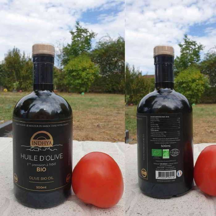 Huile d'olive bio d'Indhya