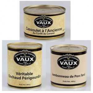 Plats cuisinés tradition périgourdine de la charcuterie de campagne Maison Vaux
