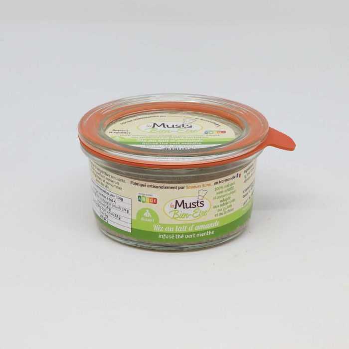 Riz au lait d'amande infusion thé vert menthe de Saveurs Sans