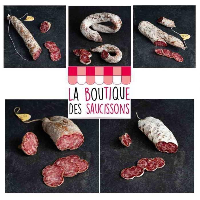 Assortiment saucisses et saucissons de régions de la Boutique des saucissons
