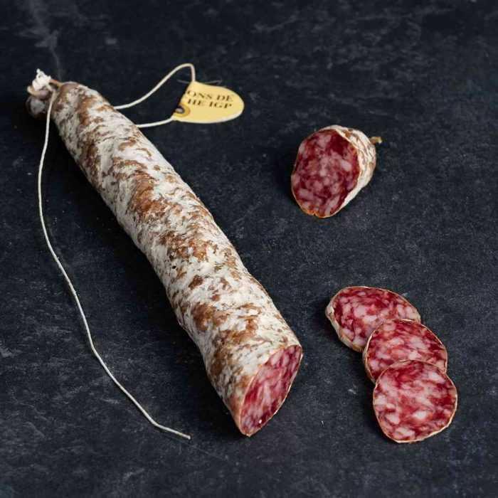 Saucisse droite de l'Ardèche de la Boutique des saucissons
