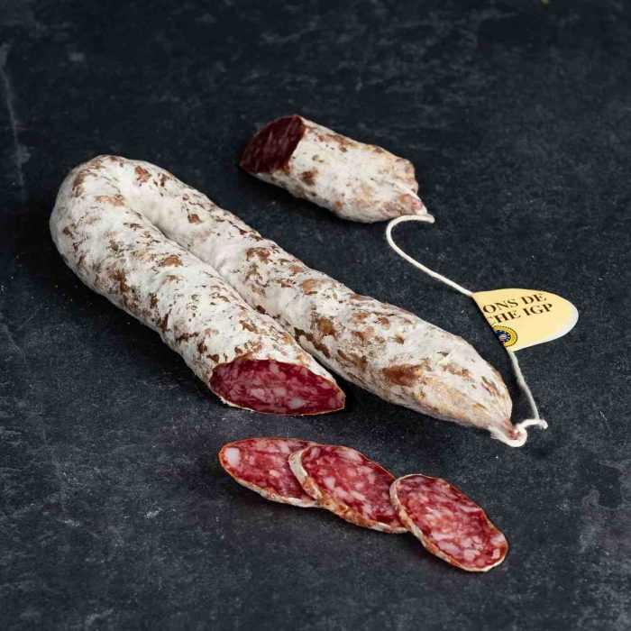 Saucisse sèche de l'Ardèche IGP de la Boutique des saucissons