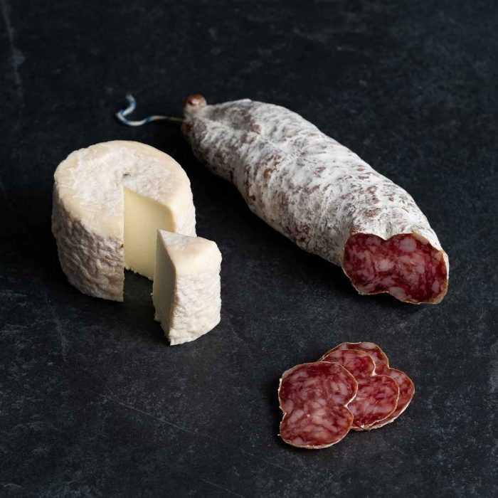 Saucisson sec au fromage de chèvre de la boutique des saucissons