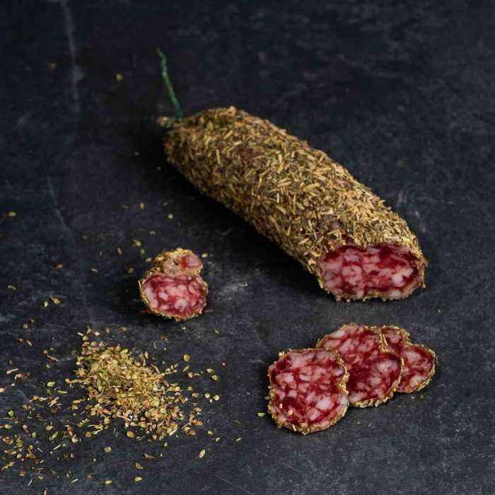 Saucisson sec aux herbes de Provence de la boutique des saucissons