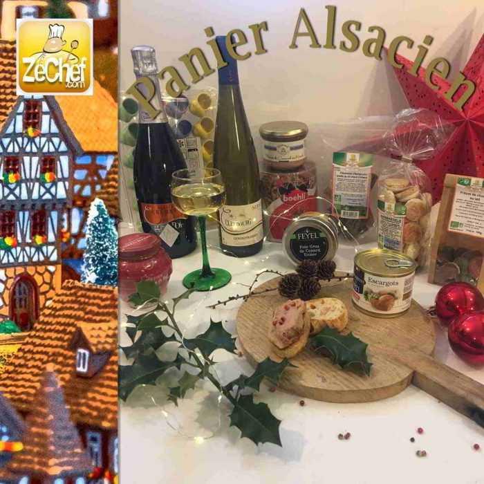 Panier Alsacien, spécial Noël en terroir alsacien