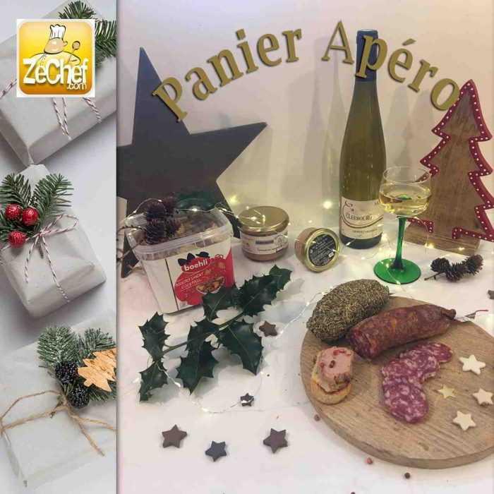 Panier apéro, spécial Noël en France