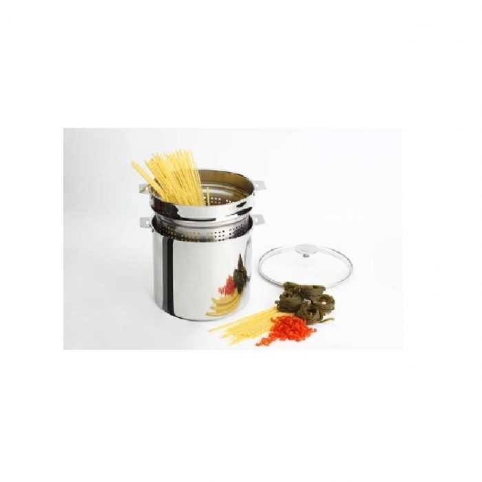 Cuit-pâtes Gamme Mutine amovible avec couvercle sur la marmite
