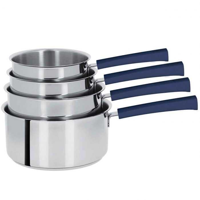 Mutine poignée fixe encre bleue, casseroles de 14 à 20cm