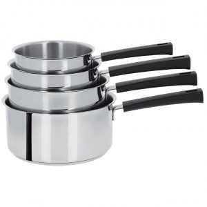 Mutine poignée fixe noire, casseroles de 14 à 20cm