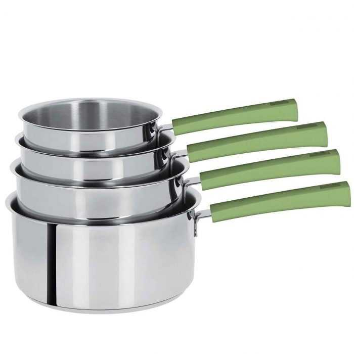 Mutine poignée fixe vert tilleul, casseroles de 14 à 20cm