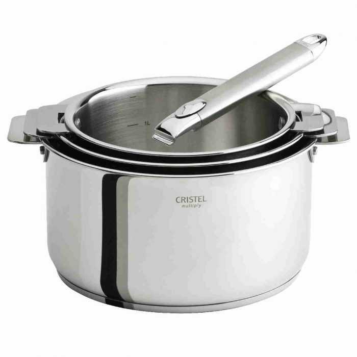 Poignée amovible Zénith 2 sur trio casseroles