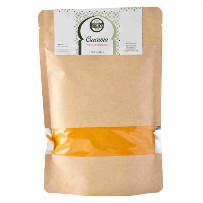 Curcuma en sachet 200g Indhya Food