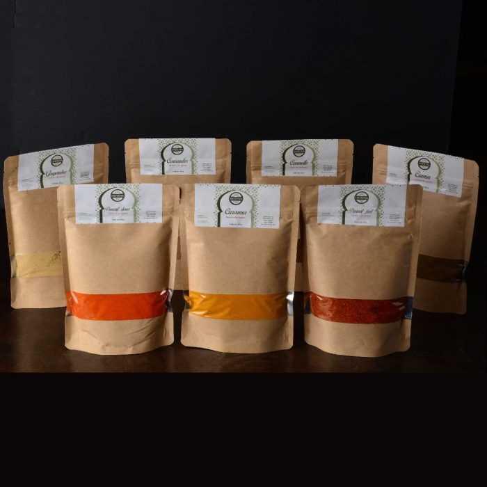 Assortiment d'épices en sachets de 200g
