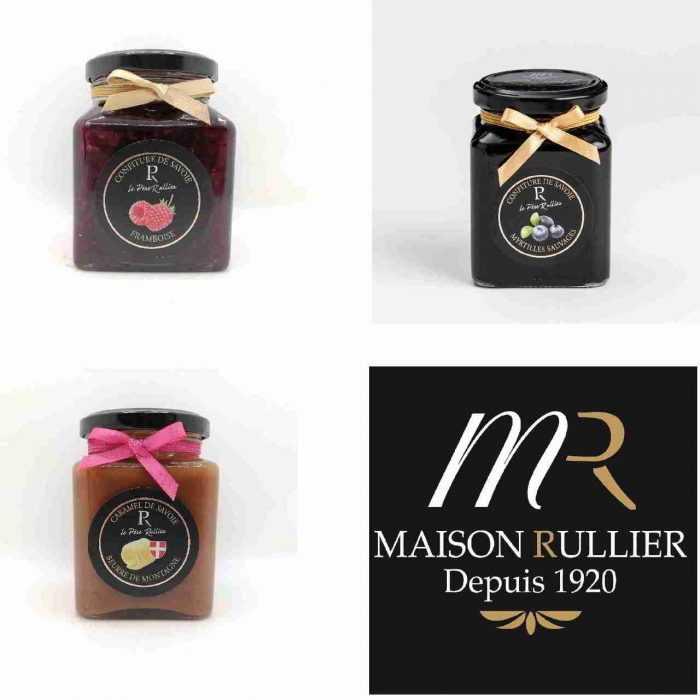 3 pots de confitures et caramel de Savoie - Père Rullier