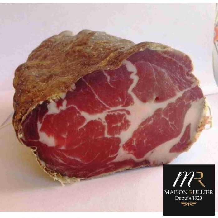 Coppa, viande de porc séchée du père Rullier